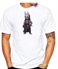 Dead by Daylight キラー ハントレス デフォルメイラスト コミカルプリント 半袖 ホワイトカラー メンズ TシャツS~XXXL