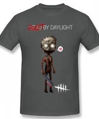 Dead by Daylight デフォルメ キャラクタープリント 半袖 Tシャツ キラー トラッパーデザイン Oネック コットン S~6XL ダークグレー