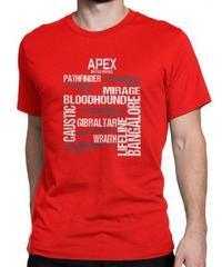 APEX LEGENDS スタイリッシュ レタープリント メンズ 半袖Tシャツ ガンシルエット 高品質 大人用 100%コットン サマートップス S~6XL レッド