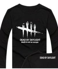 Dead by Daylight ロゴマーク 文字プリント 長袖 Tシャツ プリント Oネック トップス S~XXXL ブラック