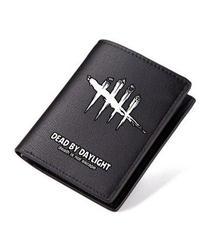 Dead by Daylight ゲームロゴ 折りたたみ ショートウォレット PUレザー 財布 男女兼用 シンプル ブラック