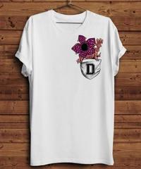 Dead by Daylight ユニークデザイン ポケットイラスト 3D風 デモゴルゴンプリント メンズ 春夏 Tシャツ S~XXXL