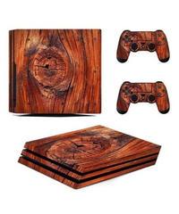 Playstation4プロ専用 木目調 リーフデザイン ナチュラルデザイン スキンシール PS4pro ビニール カスタマイズ ステッカー 選べる3パターン