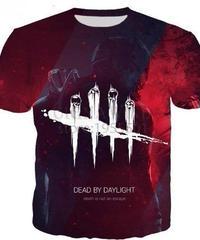 Dead by Daylight トラッパー レッドカラー プリント 半袖Tシャツ 3Dプリント ゲーミングトップス S~5XL 男女兼用