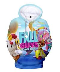 Fall Guys フォールガイズ フルプリント 総柄 プルオーバー 長袖 パーカー ロゴデザイン ユニーク メンズ 秋冬 アウター XXS~4XL 06246