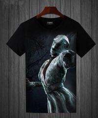 Dead by Daylight キラー ナース BIG フルプリント 半袖 メンズ Tシャツ ブラックカラー S~5XL