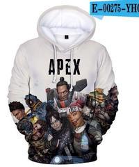 APEX LEGENDS 3Dプリント 長袖 スウェットシャツ イラストデザイン 男女兼用 XXS~4XL
