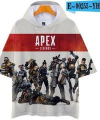 APEX LEGENDS ゆったりフィット ストリートシルエット フード付 Tシャツ ホワイト3
