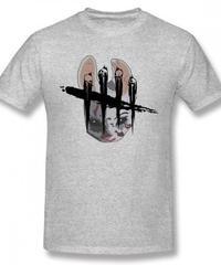 Dead by Daylight ハントレス フェイス フロントプリント 半袖 Tシャツ メンズ 春夏 トップス S~6XL グレー