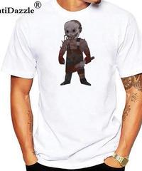 Dead by Daylight キラー トラッパー デフォルメイラスト コミカルプリント 半袖 ホワイトカラー メンズ Tシャツ XXS~4XL