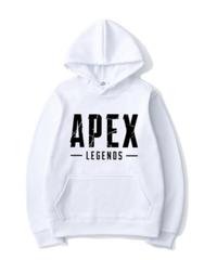 【備考欄要サイズ記載】APEX LEGENDS ロゴ フロント レタープリント シンプル 長袖 パーカー カンガルーポケット フード付 トップス 選べる8カラー