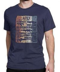 APEX LEGENDS レトロ ヴィンテージ風 イラスト フロントプリント メンズ 半袖Tシャツ ガンシルエット 夏服 トップス 高品質 大人用 100%コットン  S~6XL  ネイビーブルー