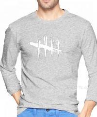 Dead by Daylight  ホワイトロゴ フロントプリント メンズ 長袖Tシャツ ロンT ルームウェア 2カラー S~XXL