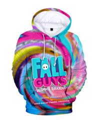 Fall Guys フォールガイズ フルプリント 総柄 プルオーバー 長袖 パーカー ロゴデザイン ユニーク メンズ 秋冬 アウター XXS~4XL 06252