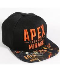 APEX LEGENDS イラスト 文字プリント カジュアル ベースボールキャップ 大人用 コットン 野球帽 ブラック