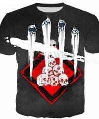 Dead by Daylight パーク ルーレット フロントプリント 半袖Tシャツ 3Dプリント ゲーミングトップス S~5XL 男女兼用
