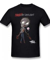 Dead by Daylight デフォルメ キャラクタープリント 半袖 Tシャツ キラー ヒルビリーデザイン Oネック コットン S~6XL ブラック