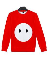 Fall Guys フォールガイズ ロゴ キャラクター フルプリント 長袖 クルーネック スウェットシャツ ユニセックス ルームウェア XXS~4XL レッド