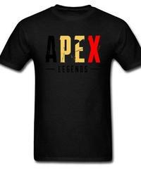 APEX LEGENDS ロゴ レタープリント 半袖 メンズTシャツ 高品質 大人用 コットン トップス XS~XXXL ブラック