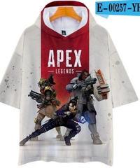 APEX LEGENDS ゆったりフィット ストリートシルエット フード付 Tシャツ ホワイト4