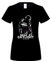 Dead by Daylight トラッパー キラー&ロゴ フロントプリント シンプル デザイン レディース 長め丈 半袖Tシャツ  トップス S~XL