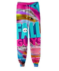Fall Guys フォールガイズ イラスト プリント ロング丈 ドローストリング スウェットパンツ スポーツ ルームウェア XS~6XL 06252