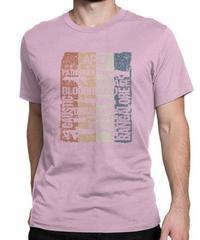 APEX LEGENDS レトロ ヴィンテージ風 イラスト フロントプリント メンズ 半袖Tシャツ ガンシルエット 夏服 トップス 高品質 大人用 100%コットン  S~6XL  ピンク