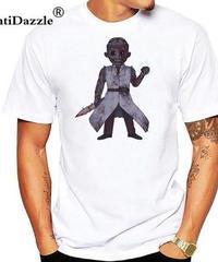 Dead by Daylight キラー ドクター デフォルメイラスト コミカルプリント 半袖 ホワイトカラー メンズ Tシャツ XXS~4XL
