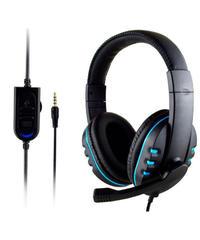 ハイファイ ステレオ サラウンドサウンド ゲーミングヘッドフォン 重低音 PS4対応 マイク付 ヘッドセット ブラック