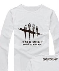 Dead by Daylight ロゴマーク 文字プリント 長袖 Tシャツ プリント Oネック トップス S~XXXL ホワイト
