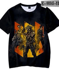 APEX LEGENDS 3Dプリント カジュアル キッズ Tシャツ 半袖 クールイラスト 男女兼用
