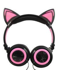 バイカラー 猫耳 キュート 有線 ゲーミングヘッドフォン レディース ユニーク ヘッドセット マイク付 オンラインゲーム オンライン飲み会 2カラー