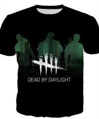 Dead by Daylight キラー シルエット ロゴ デザイン プリント 半袖 Tシャツ ブラック S~5XL