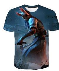 Dead by Daylight  ハントレス 全身デザイン フロントプリント イラスト メンズ 半袖 Tシャツ インナー S~4XL