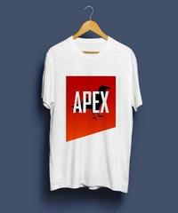 【注文時サイズ要記入】APEX LEGENDS キャラクター ロゴ フロントプリント メンズ 半袖 ホワイトカラー Tシャツ S~XXXL
