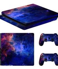 Playstation 4 スリム専用 きらきら 星空パターン スキンシール PS4 カスタマイズ ステッカー 選べる10パターン