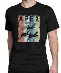 APEX LEGENDS レトロ イラストデザイン メンズ 半袖Tシャツ プリント サマー トップス 高品質 大人用 100%コットン  S~6XL ブラック