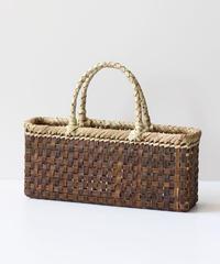 マチ9cm 横長 沢胡桃のかごバッグ  (クルミ/くるみ/籠)  オズのかごバッグ