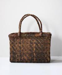 横幅27cm 沢胡桃のかごバッグ  網代編み (クルミ/くるみ/籠)  オズのかごバッグ
