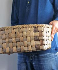 大きな沢胡桃の置き籠  (クルミ/くるみ/籠)  オズのかごバッグ