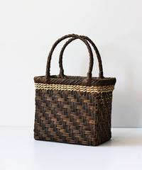 横幅20cm 可愛い小さ目 沢胡桃のかごバッグ   (クルミ/くるみ/籠)  オズのかごバッグ