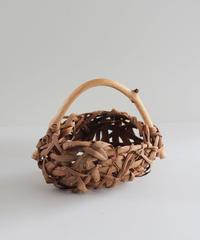 山葡萄の乱れ編み置き籠 小物入れ 花入れ