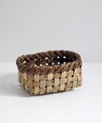 沢胡桃の置きかご 籠 (小) 表皮 小物入れ 平織り