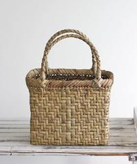 横幅20cm 網代編み 沢胡桃のかごバッグ   (クルミ/くるみ/籠)  オズのかごバッグ