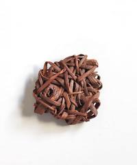 山葡萄のブローチ 『乱れ編み無造作』岩手県産の山ブドウ樹皮