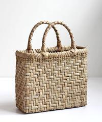 沢胡桃のかごバッグ  表皮 網代編み マチ10cm とても綺麗な表皮