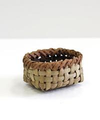 沢胡桃×山葡萄の置きかご 籠 (小) 表皮 小物入れ 平織り