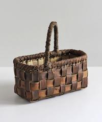 横幅27cm 裏皮 ワンハンドル 沢胡桃のかごバッグ   (クルミ/くるみ/籠)