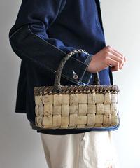 横幅27cm 表皮 ワンハンドル 沢胡桃のかごバッグ   (クルミ/くるみ/籠)