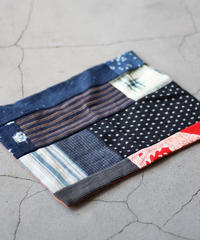 古布襤褸×柿渋 リメイクのランチョンマット/籠掛け布